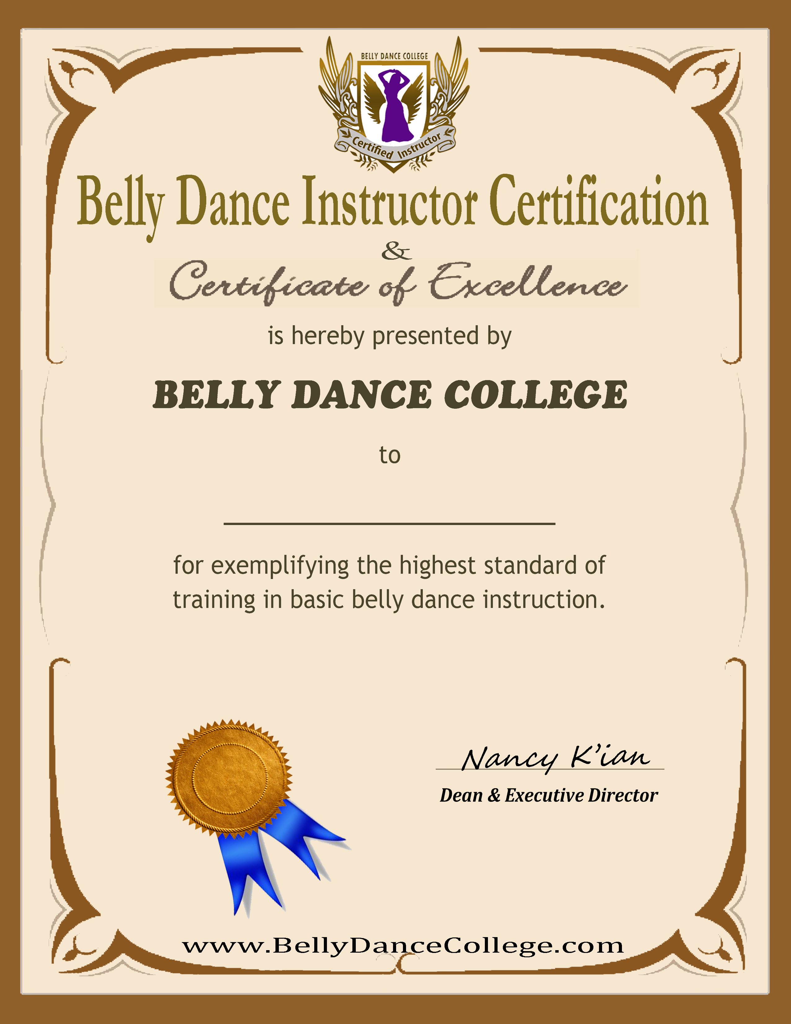 Belly dance training instructor certificate 1betcityfo Image collections